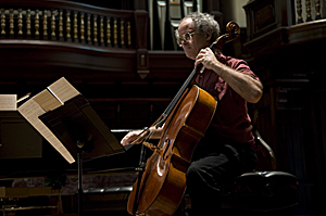 Tom Flaherty on Cello at Pomona College Bridges Hall